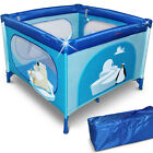 Child Travel Bed Cot Playpen Side Entry Baby Play Pen Portable 100x100cm Square <br/> L/W/H: 35/9.5/9.5 ft✔ Colour choice✔ Padded Mattress✔