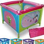 Child Travel Bed Cot Playpen Side Entry Baby Play Pen Portable 100x100cm Square