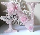 PERSONALISED CHUNKY WOODEN TAG LETTER TAG NEW BABY,BIRTHDAY, CHRISTENING GIFT