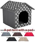 Doghouse kennel tent with pad igloo house dog bed fabric indoor large xxl cave