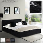 160x200 cm Double Bed Gas Lift Under Bed Storage Padding Headboard Choice Colour