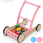 Stable Wooden Baby Walker Support Helper with Storage Space New