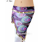 C34 Belly Dancing Costume Huefttuch Coin Garter Belt Peacock