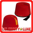 New Red Hat Fez Fancy Dress Costume Adult Mens Womens Doctor Who Alladin Turkish