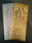 Two Sheets Peel Offs Ornamental Floral Corners Gold Silver