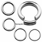 BCR 1.2mm x 8mm surgical steel segment rings hoops bcr in1 pcs to 6 pcs sets
