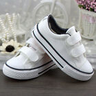 Fashion Boy Girl Plimsolls Velcro Sneakers Childrens Flat Canvas Sport Shoes XZ3