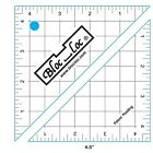 """Bloc Loc Half Square Triangle Square Up Ruler-Sizes 1.5"""" to 9.5""""  Acrylic Ruler"""