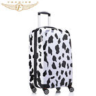 Travel Luggage Suitcase Cow Print Spinner 4 Wheels Hardside Case 20 24 28inch
