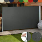 Garden Patio Sunshade Retractable Blind Side Awning Screen Choice Size & Colour