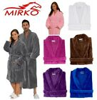 Terry Velour Mens Womens Unisex Shawl Collar Bathrobe Robe MIRKO 100% Cotton New