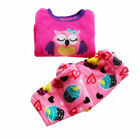 2016 New Baby Little Girls Coral Fleece Winter Warn Sleepwear Sleepsuit Set 1-5T