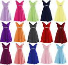 New Short Chiffon Bridesmaid Formal Gown Ball Party Evening Prom Dress Size 6-22