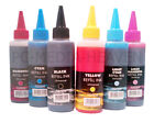 Bulk Bottled Ink Dye Set 100ml Printer Cartridge Refil Bottle Kit For CISS