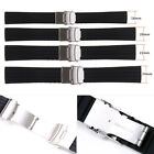 New Adjustable Silicone Rubber Watch Strap Band Waterproof with Deployment Clasp