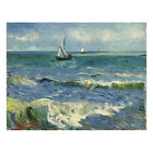 Van Gogh Painting Repro Canvas Print Picture Wall Art Home Decor Seascape Framed фото