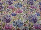 Voyage Decoration Country Hydrangea Wisteria Floral Cotton Curtain Fabric