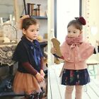 New Korea Style Girls Kids Girls Thick Cape Cloak Outerwear Coat 3-8Y S495