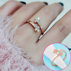 Micro Simulated Crystal Cross Rings For Women Adjustable Size Midi Ring Jz435