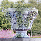 Greenman Garden Urn Planter by Orlandi Statuary Made of Fiberstone-FS60300