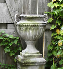 Fluted and Beaded Garden Planter Urn by Orlandi Made of Fiberstone-18
