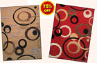 5x7 Area Rug Modern Contemporary Geometric Circle Design New  (75% OFF)