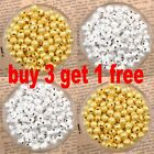 Silver/ Gold Plated Round Spacer Loose Beads Charms Findings 3/ 4/5/ 6/ 8/10mm