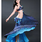 C926B Profil Belly Dancing Costume 2 Parts Bra + Skirt with Peacock - Motive