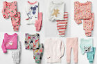 GAP Girl Pajamas Sleepwear Sleep Set Cotton Pink Blue Green Multi 2T 3T 4T 5T