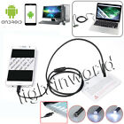 1M-5M Endoscope 7mm 6 LED USB Waterproof Borescope Inspection camera For Android