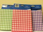 "PICNIC BARBECUE TABLE CLOTHS TABLE COVER 54"" X 72"" PLAID RED OR GREEN OR PURPLE"