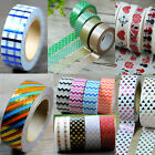 Newly Japanese Washi Tape Scrapbooking Cute DIY Paper Masking Sticky Decor Love