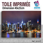 100x40cm -toile imprimee- tableau decoration murale- new york - ny-01t