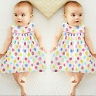 2pcs Lovely Toddler Kids Girls Polka Dot Tops Shirt Dress + Cotton Bows Shorts