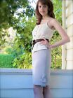 BOUTIQUE Suzabelle St. Lucia Skirt Twill Pencil Skirt With Bow Trim