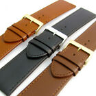 Comfortable Flexible Leather Watch Strap Band Buffalo grain 24mm - 30mm