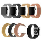 For Apple Watch iWatch Milanese Magnetic Loop Stainless Steel Watch Band Strap