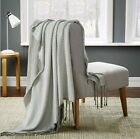 Knitted Throw Rug / Bed Runner With Tassel 100% Cotton