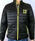 Seattle Seahawks inspired 12 Go Hawks Packable Insulated Jacket Layer Black Lime