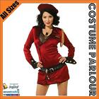Womens Red Military Army Austin Powers Soviet Union Fancy Dress Costume