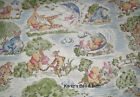 Winnie The Pooh Bear Toile Fly Kite Windy Day Cotton Fabric BTY Half Yard t5/26