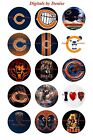 """CHICAGO BEARS 1"""" CIRCLES  BOTTLE CAP IMAGES. $2.45-$5.50 ***FREE SHIPPING**** $3.45 USD on eBay"""