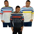 Raiken Spring Striped Crew Neck Sweatshirt Top  mens Size