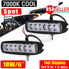 "2x 18W 6"" Spot Offroad Work LED Light Bar Driving DRL Lamp SUV 4WD Boat Truck"