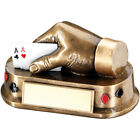 Poker Cards Hand Trophy in 2 Sizes with FREE Engraving up 30 Letters