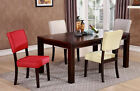 4 chairs in living room - Set of 2 Comfortable Dining Upholstery Side Dining Cushioned Chairs in 4 Colors