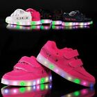 7 Colors Kids Sneakers Charging Luminous Lighted Colorful LED Casual sport shoes