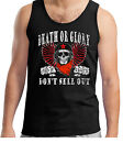 Men's Punk Rock Inspired Vest Sleeveless Death Or Glory  Love Hate 70's Tank Top