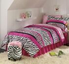 Wild Zebra Animal Print Safari Black Pink Bed-in-bag Jung...