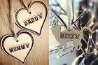 PERSONALISED HEART /CAT  NAME UNIQUE GIFT TAGS XMAS HANGING DECORATION